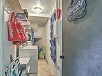 Use the in-unit laundry machines on the bottom level.