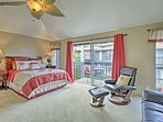Walk through the sliding doors in the master bedroom out onto the lanai.