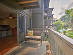 Enjoy a tasty meal and beverage on the top-floor lanai of this Kona getaway!