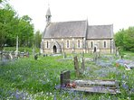 Merthyr Mawr Chapel , beautiful in the spring with all the bluebells, and crocus ,