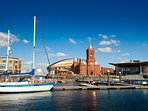 Cardiff Bay , go visit the city , plenty to do , boat rides across the bay , and lots of shops