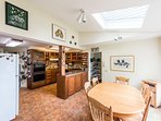 The large kitchen with lots of workspace and antique breakfast table. Ocean views