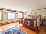 One of TWO master suites! This one is upstairs with incredible ocean views. Smell the salt air!