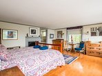 Large upstairs mater suite with private dressing room with ocean views.