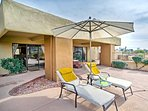 Boasting a furnished patio, pool, access, and beds for 6, this home is the epitome of luxurious.