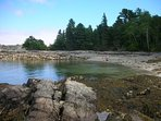 Compass Cove beach is just a short 5 min walk from the estate through Acadia National Park.