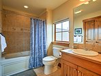 Enjoy a relaxing soak in the shower/tub combo in the third bathroom.