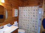 Bathroom with 2 shower heads