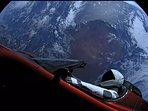 The Tesla SUV circling Earth after being launched from the Space Center