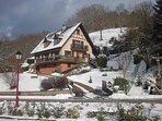 Maison d'hôtes en hiver