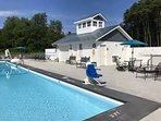 30' x 70' pool. Please bring beach towels