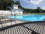 30' x 70' pool. Please bring beach towels.