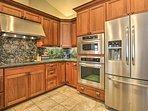 Stock all your groceries in the huge double-door fridge!