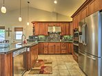 The home offers several upscale amenities like stainless steel appliances.