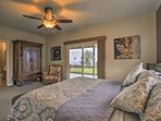 Enjoy private patio access from the master bedroom.