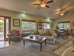 Kick back and relax in the spacious living room.