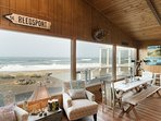 Amazing oceanfront home located on miles of sandy beach with plenty of room