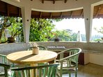 one of 4 terraces where to enjoy breakfast or to hang out