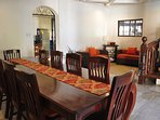 Dining room with 10~12 seating capacity