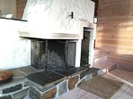 Open fireplace (wood)