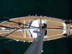 Vue aérienne du bateau