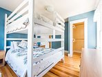 Custom queen over queen bunkbed for a single couple or a gaggle of kids.