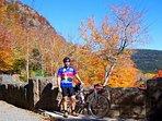 Have fun biking the carriage roads during the fall.