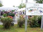 Bar Harbors farmer market is just a mile a way!