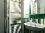 The green bathroom.