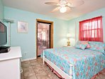 2nd guest bedroom features full size bed, ceiling fan and 32 in flat screen cable tv. Patio door has a child's lock at...