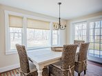 Dining Area with 4 Chairs & Farmers Bench