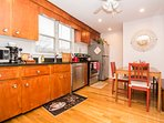 Fully equipped and applianced eat-in kitchen