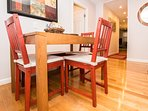 Table in kitchen expands to seat 6