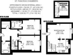 Apartment floor plan to help you visualise how the photos fit together