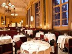Chef Marcus Wareing's brasserie, 'The Gilbert Scott', is just downstairs