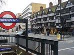 Short walk to Chancery Lane Underground Station