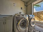 The on-site washer and dryer is available.