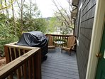 Deck With Seating For Two And New Four Burner Gas Grill