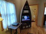 Entertainment Center And Primitive Table