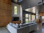 Gorgeous and tasteful contemporary finishes comprise this trendy East Austin house.