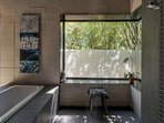 Beautiful tiles and replenishing natural light - your own little spa!