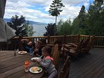 eat outside and enjoy the outdoors from the main deck