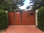 Gate #1. Key Access Only, for your added security. This apartment has a private driveway.