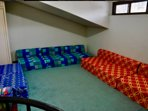 Sofa beds in the attic (dormitory for children)