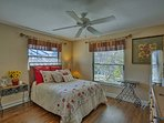 Rest your head on the queen bed in the second bedroom.