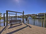 Bring your boat or jet skis and park them at the private dock.