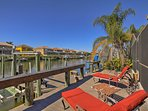 The deck offers wonderful canal views.