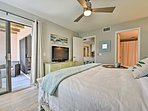 Guests can access the balcony through the master suite and living room.
