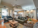 Relax on one of 2 comfortable living room couches.