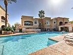 Plan your desert getaway to this chic 2-bedroom, 2-bath vacation rental condo!